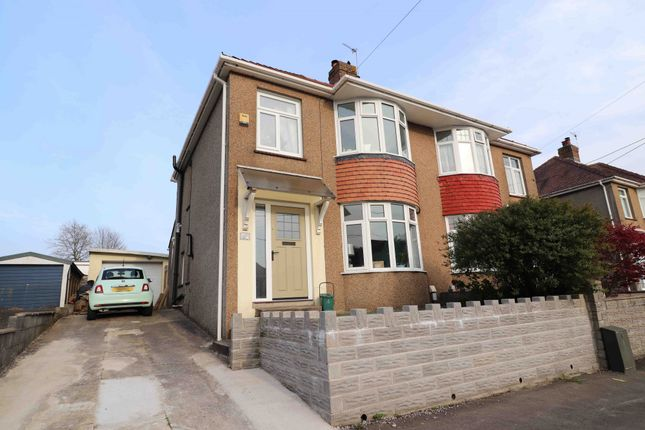 Thumbnail Semi-detached house for sale in Myrtle Road, Garden Village, Swansea