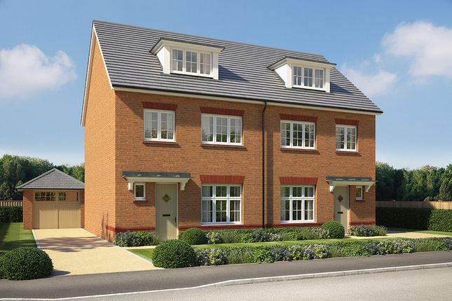 """Thumbnail Semi-detached house for sale in """"Lincoln"""" at Pentrebane Drive, Cardiff"""