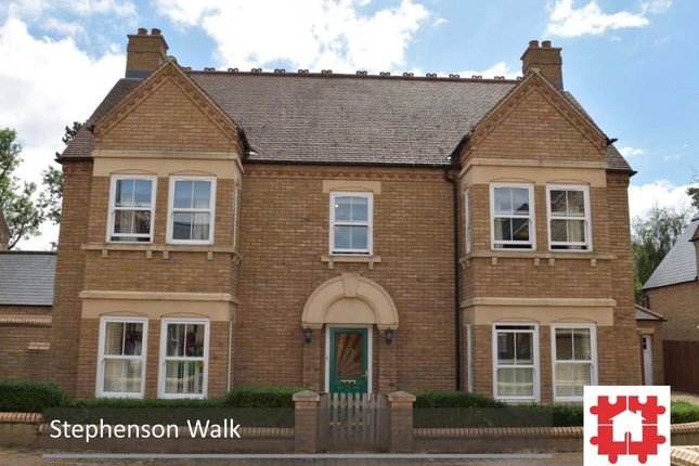 Thumbnail Detached house for sale in Stephenson Walk, Stotfold, Herts