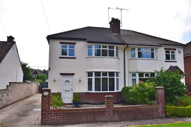 Thumbnail Semi-detached house for sale in Hall Drive, Doveridge, Ashbourne