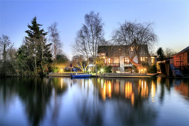 Thumbnail Detached house for sale in Pharaohs Island, Shepperton, Surrey