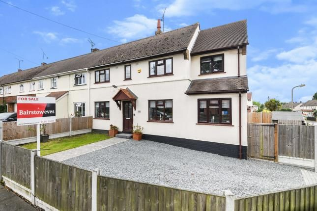 3 bed end terrace house for sale in Pilgrims Hatch, Brentwood, Essex CM15