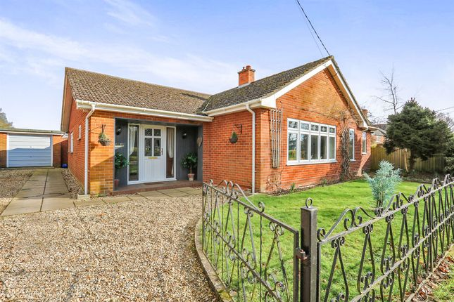 Thumbnail Detached bungalow for sale in The Green, Old Buckenham, Attleborough