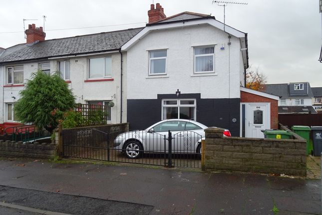 Thumbnail 3 bed end terrace house to rent in Vachell Road, Ely, Cardiff.