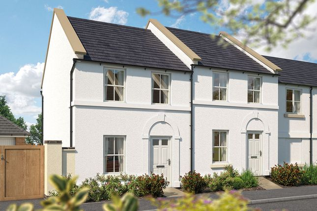 "Thumbnail Terraced house for sale in ""The Wembury"" at Haye Road, Sherford, Plymouth"