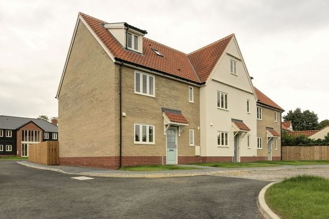 Thumbnail End terrace house for sale in School View, Caston, Attleborough