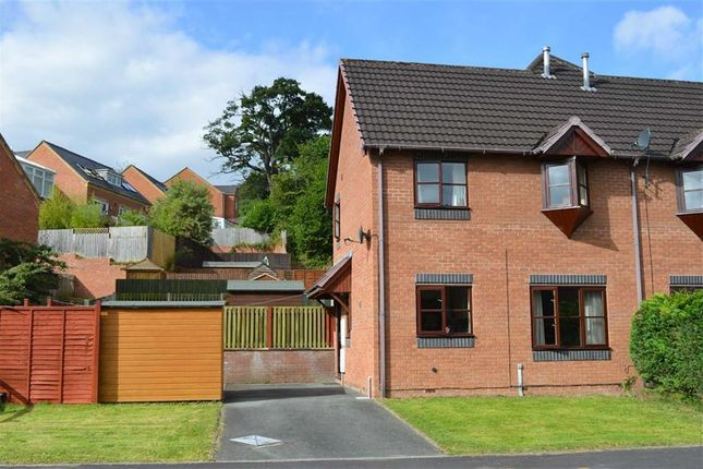 Thumbnail End terrace house to rent in 12, Holly Court, Barnfields, Newtown, Powys