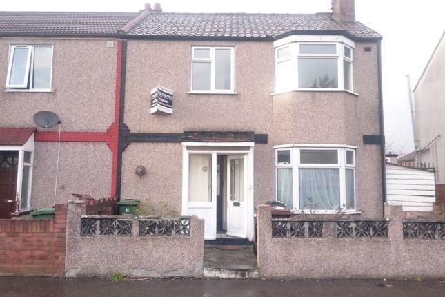 Thumbnail End terrace house for sale in Heath Road, Chadwell Heath, Romford