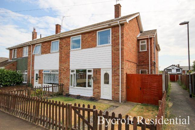 Thumbnail End terrace house for sale in Rosedale Gardens, Belton, Great Yarmouth