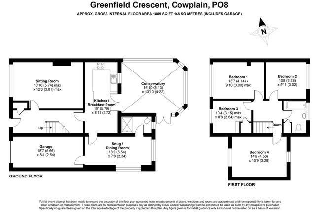 Floorplan of Greenfield Crescent, Waterlooville PO8