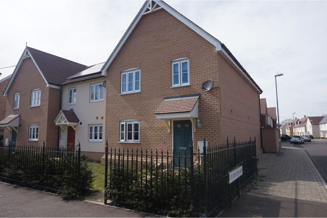 Thumbnail End terrace house to rent in Hooper Avenue, Colchester