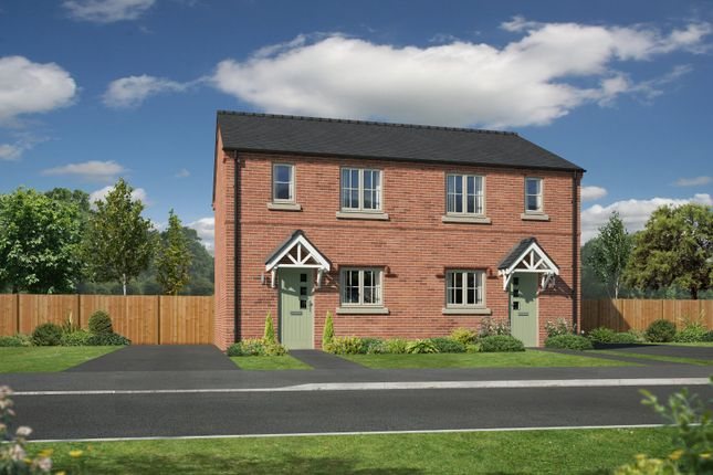 Thumbnail Semi-detached house for sale in Plot 2, Henry Robertson Place, Gobowen, Oswestry