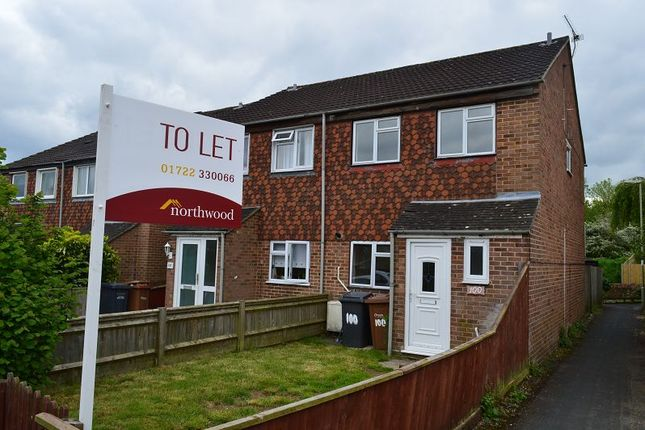 Thumbnail Semi-detached house to rent in Vespasian Road, Andover