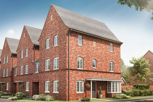 "Thumbnail Town house for sale in ""The Houghton"" at Kiln Drive, Stewartby, Bedford"