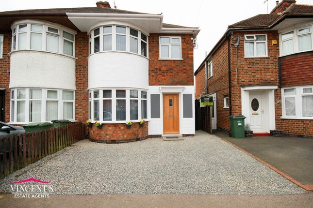 Thumbnail Semi-detached house for sale in Hathaway Avenue, Leicester