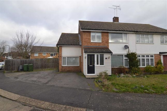 Thumbnail Semi-detached house for sale in Swallow Dale, Kingswood, Basildon, Essex