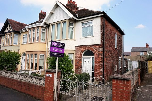 3 bed end terrace house for sale in Falmouth Road, Blackpool