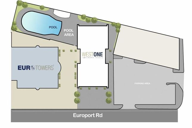 Thumbnail Studio for sale in West One, Eurotowers, Gibraltar, Gibraltar