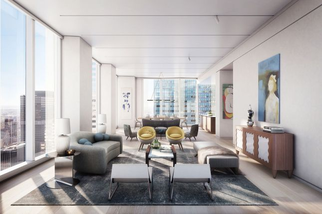 Tower Living Room With Space For Art And Incredible City Views