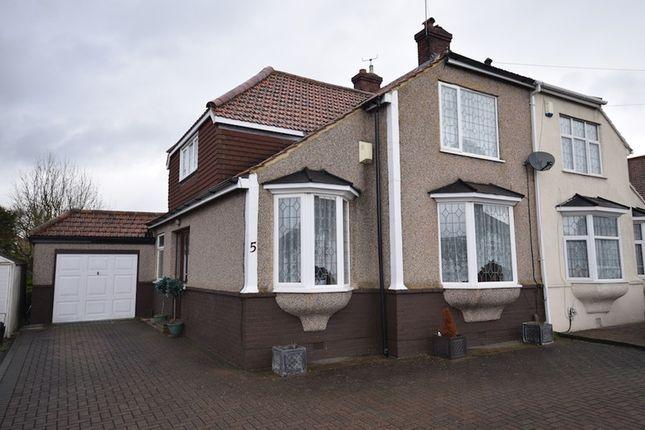 Thumbnail Semi-detached house for sale in Bedonwell Road, Bexleyheath, Kent