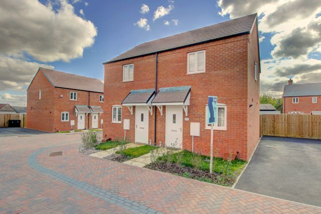 Thumbnail 2 bed semi-detached house for sale in The Lawns, Cranfield, Bedford