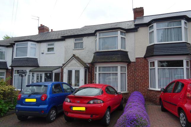 Thumbnail Terraced house for sale in Aubrey Road, Harborne, Birmingham