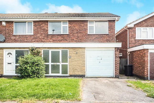 Thumbnail Semi-detached house for sale in Goddards Close, Leicester