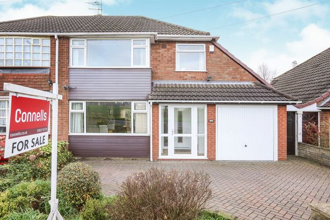 Thumbnail Semi-detached house for sale in Linthouse Lane, Wednesfield, Wolverhampton