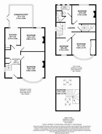 Floor Plan of The Crescent, Egham, Surrey TW20