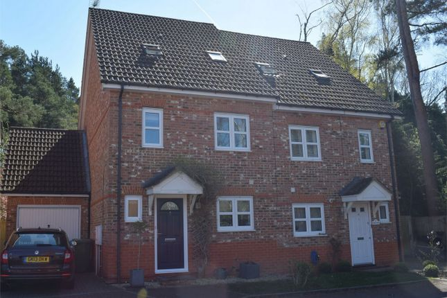 Thumbnail Town house for sale in Brakes Rise, College Town, Sandhurst, Berkshire