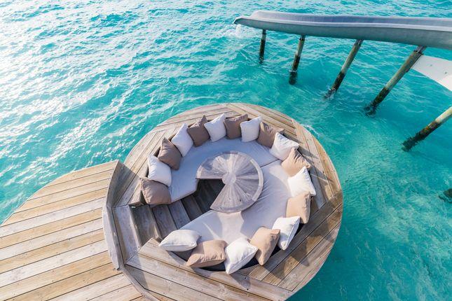 Outdoor Seating of Medufaru Island, Noonu Atoll, Maldives