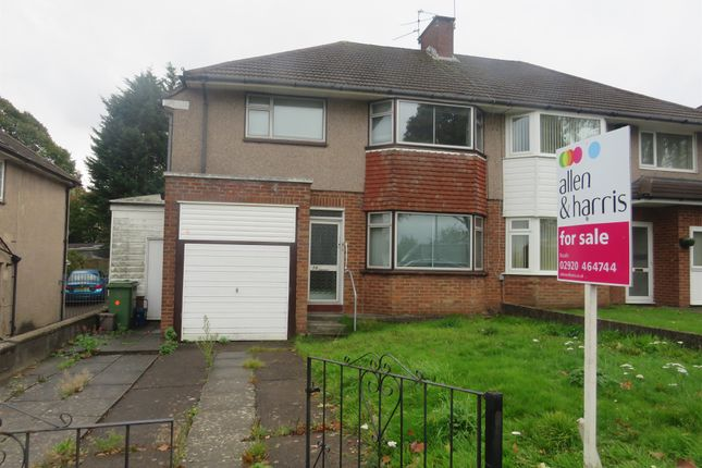 Thumbnail Semi-detached house for sale in Llanedeyrn Road, Penylan, Cardiff
