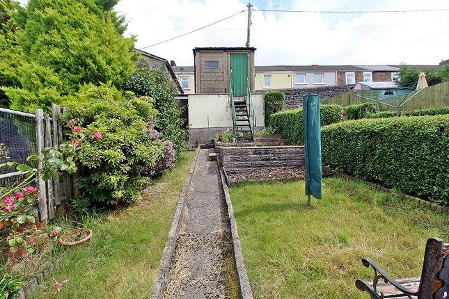 Rear Garden of York Terrace, Georgetown, Tredegar, Blaenau Gwent. NP22