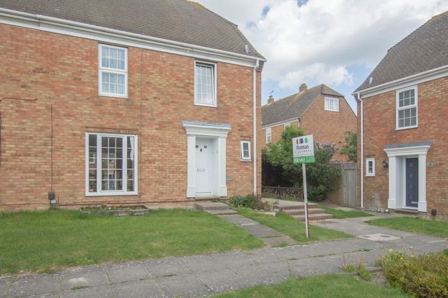 Thumbnail End terrace house for sale in Papworth Close, Folkestone