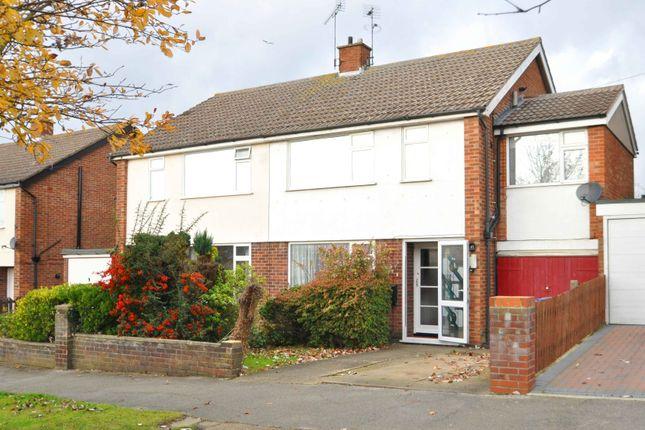 Thumbnail Semi-detached house for sale in Aldercroft Road, Ipswich