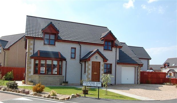 Thumbnail Detached house for sale in Knockomie Rise, Forres