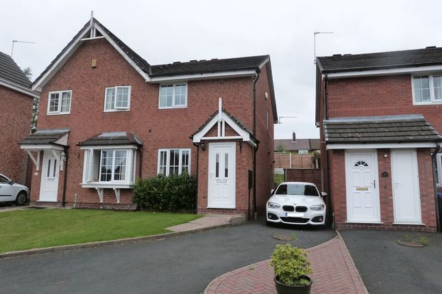 Thumbnail Semi-detached house to rent in Swallow Walk, Biddulph, Staffordshire