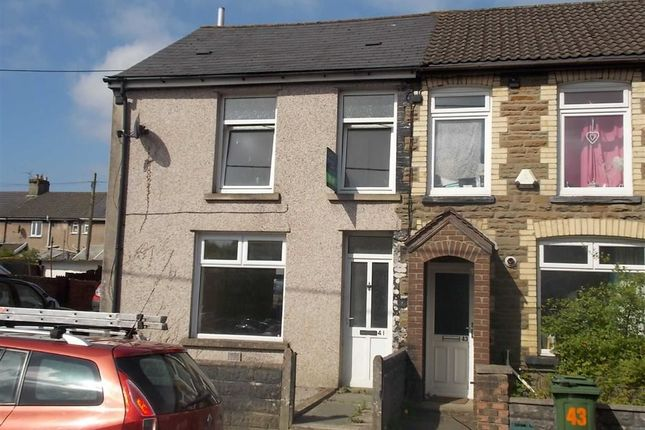 Thumbnail End terrace house to rent in Commercial Street, Beddau, Pontypridd
