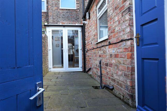 Rear Patio Yard of River Street, York YO23