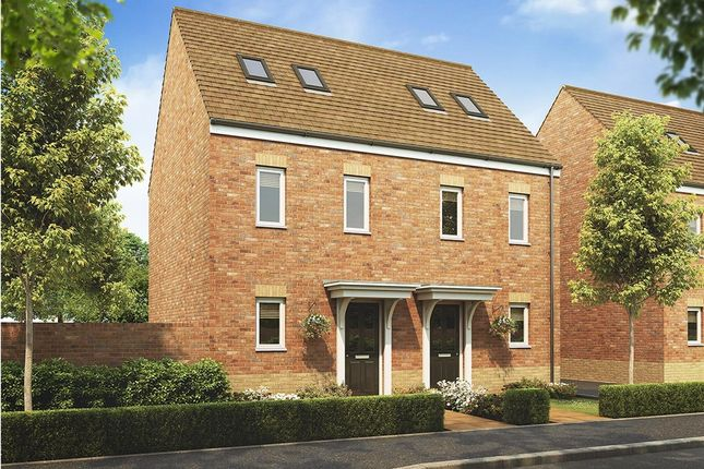 """Thumbnail 3 bedroom semi-detached house for sale in """"The Moseley"""" at Stowmarket Road, Great Blakenham, Ipswich"""