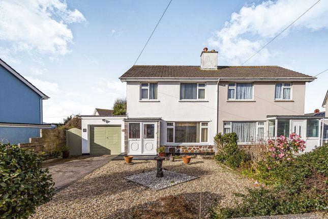 Thumbnail Semi-detached house for sale in Pendrea Park, North Roskear, Camborne