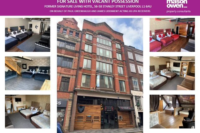 Thumbnail Leisure/hospitality for sale in Former Signature Living Hotel, 56-58 Stanley Street, Liverpool
