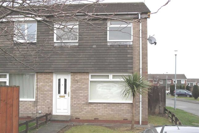 Thumbnail Semi-detached house to rent in Oxford Avenue, Eastfield Green, Cramlington