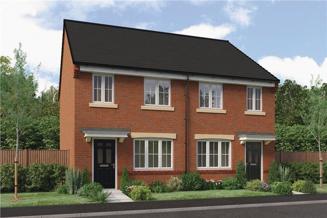 "Thumbnail Semi-detached house for sale in ""The Stretton"" at Ladyburn Way, Hadston, Morpeth"