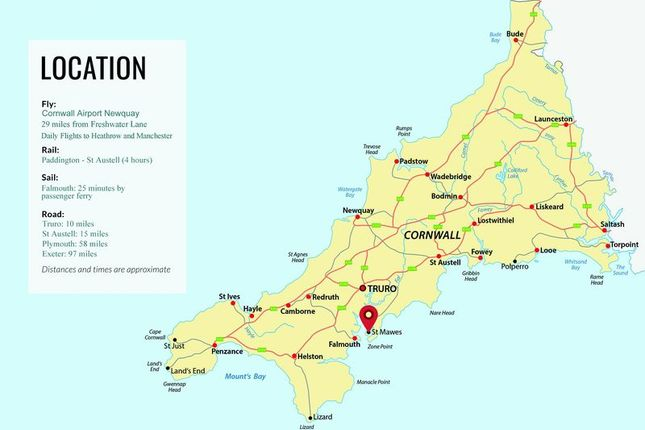 Location Map of Freshwater Lane, St. Mawes, Truro TR2
