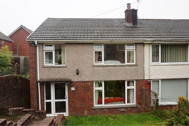 Thumbnail Semi-detached house for sale in Nantgwyn, Cwmdare, Aberdare