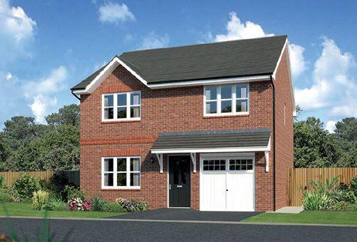 "Thumbnail Detached house for sale in ""Denewood"" At Ffordd Eldon, Sychdyn"