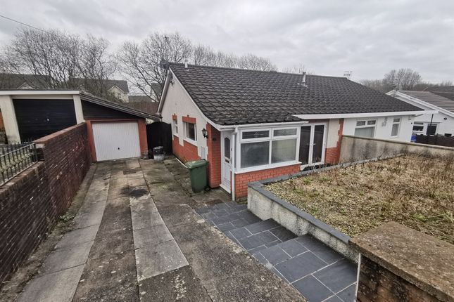 Thumbnail Semi-detached bungalow for sale in Heathlands, Ystrad Mynach, Hengoed
