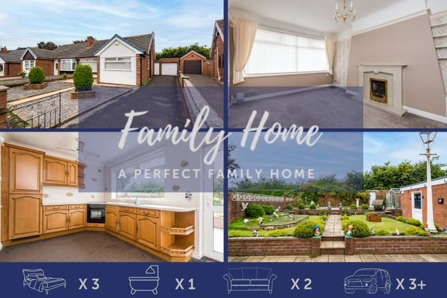 3 bed semi-detached bungalow for sale in Abbots Hall Avenue, Clock Face, St. Helens WA9