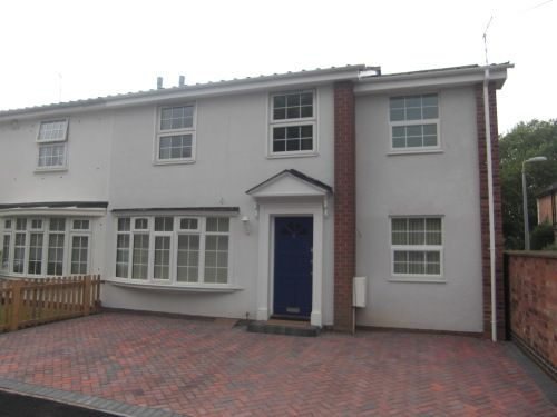 Thumbnail End terrace house to rent in Rotherfield Close, Leamington Spa